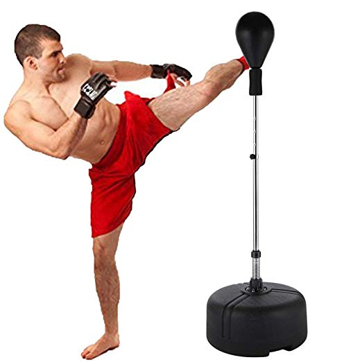shaofu Freestanding Boxing Punching Bag Reflex Speed Punching Bags Adjustable Height for Adults Kids US Stock